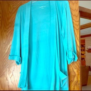 Teal light blue comfy outerwear